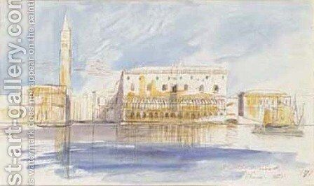 The Doge's Palace, Venice by Edward Lear - Reproduction Oil Painting