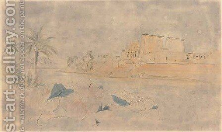 The Temple of Isis at Philae by Edward Lear - Reproduction Oil Painting
