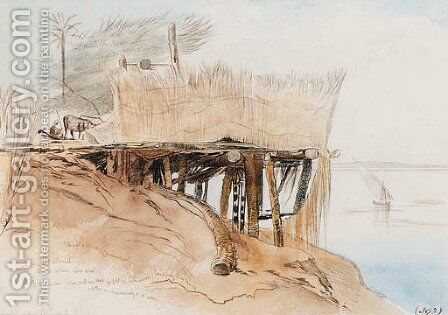 The Upper Nile, Toske, Egypt by Edward Lear - Reproduction Oil Painting