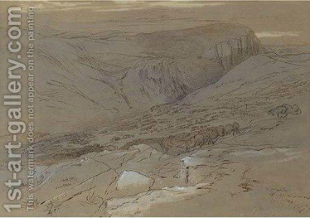 Topolia, Crete by Edward Lear - Reproduction Oil Painting