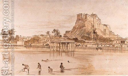 Trichinopoly, Tamil Nadu, South India by Edward Lear - Reproduction Oil Painting