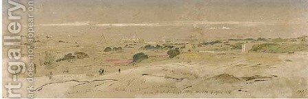 View taken from above Birchichara, Malta by Edward Lear - Reproduction Oil Painting