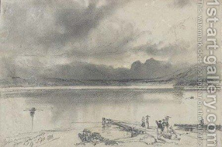 Windermere from Lowwood, Cumbria by Edward Lear - Reproduction Oil Painting