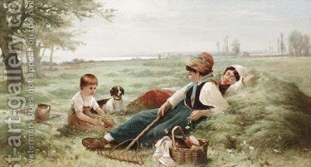 Noon Day Rest by Edward Moran - Reproduction Oil Painting
