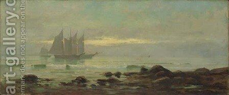 Shrimpers Returning from Work by Edward Moran - Reproduction Oil Painting