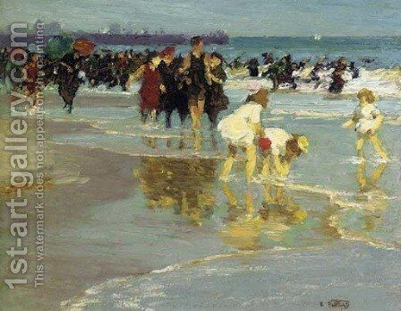 Bathers 3 by Edward Henry Potthast - Reproduction Oil Painting
