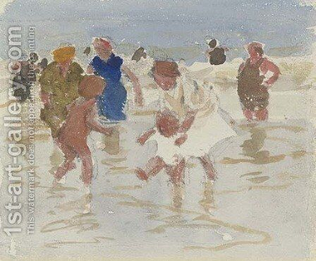Bathers in the Surf 3 by Edward Henry Potthast - Reproduction Oil Painting
