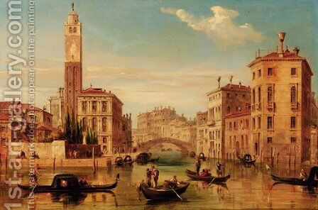 A Venetian cappriccio by Edward Pritchett - Reproduction Oil Painting