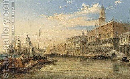 A View Of The Molo, Looking West With The Ducal Palace To The Right by Edward Pritchett - Reproduction Oil Painting