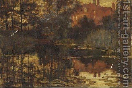 The old mill pond by Edward R. Taylor - Reproduction Oil Painting