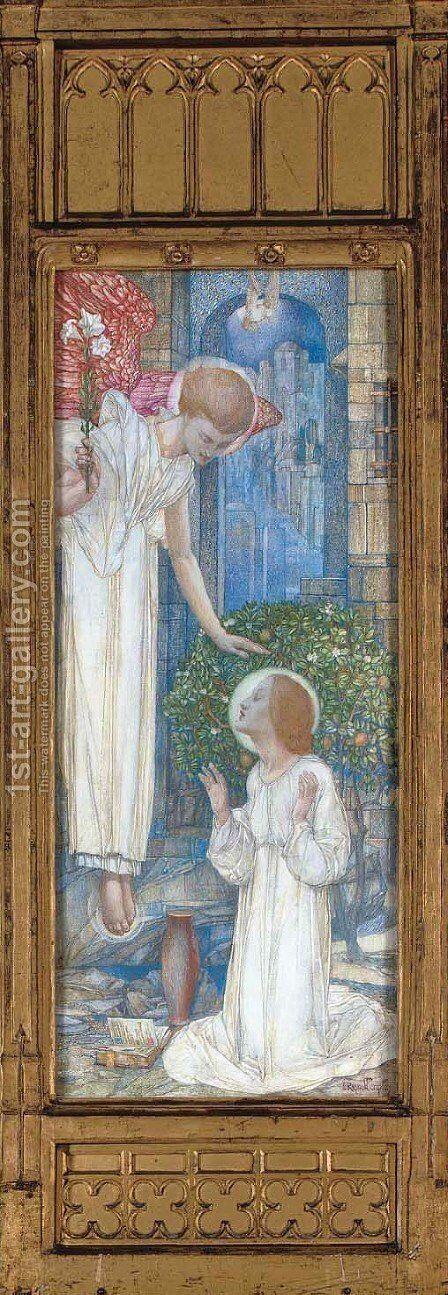 The Annunciation 2 by Edward Reginald Frampton - Reproduction Oil Painting