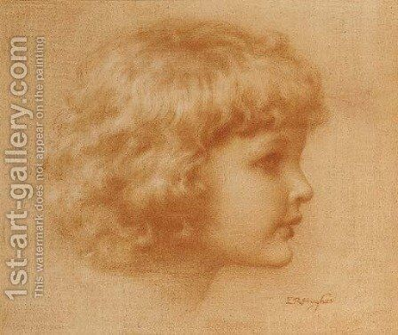 Head of a child by Edward Robert Hughes - Reproduction Oil Painting