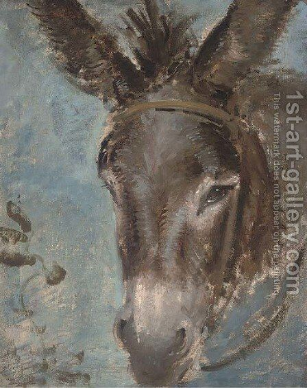 A donkey's head by Edward Robert Smythe - Reproduction Oil Painting