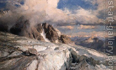 Saleinaz Glacier by Edward Theodore Compton - Reproduction Oil Painting