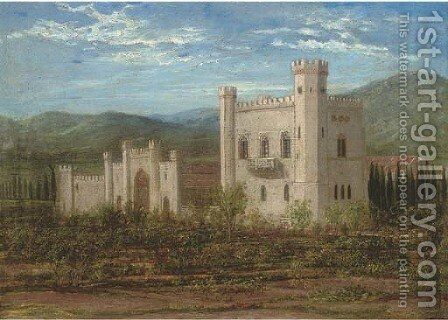 An Iberian castle by Edward Villiers Rippingille - Reproduction Oil Painting