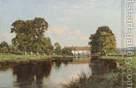 The House on the River by Edward Wilkins Waite - Reproduction Oil Painting