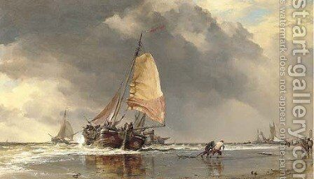 Dutch Pincks off Katwak by Edward William Cooke - Reproduction Oil Painting