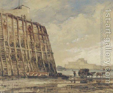 Pier-Head. St. Heliers, Jersey by Edward William Cooke - Reproduction Oil Painting