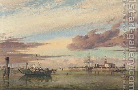 Isola della Certosa, in the Venetian Lagoon by Edward William Cooke - Reproduction Oil Painting