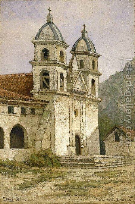 Mission Santa Barbara by Edwin Deakin - Reproduction Oil Painting