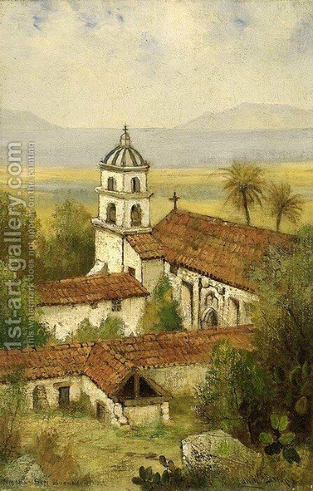 Mission Santa Buenaventura by Edwin Deakin - Reproduction Oil Painting