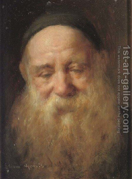 Portrait of an old man by Edwin Harris - Reproduction Oil Painting