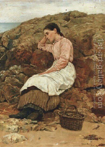Quiet contemplation by Edwin Harris - Reproduction Oil Painting