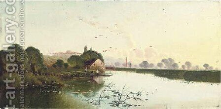Tranquil waters by Henry John Boddington - Reproduction Oil Painting