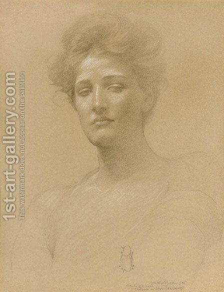 Study of a Head by Edwin Howland Blashfield - Reproduction Oil Painting
