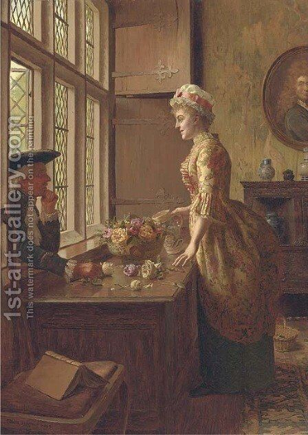 Love at the window by Edwin Hughes - Reproduction Oil Painting