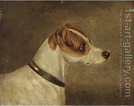 Head of a terrier 2 by Edwin Loder - Reproduction Oil Painting