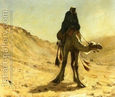 The camel rider by Edwin Lord Weeks - Reproduction Oil Painting