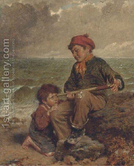 Playmates by Edwin Thomas Roberts - Reproduction Oil Painting