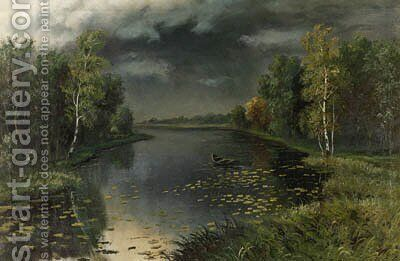 Spring - Threatening Skies by Efim Efimovich Volkov - Reproduction Oil Painting