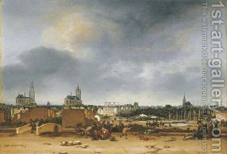 A view of Delft after the explosion of 1654 by Egbert van der Poel - Reproduction Oil Painting