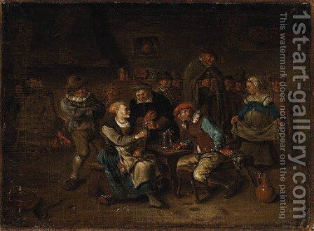 Peasants merry making in a Tavern by Egbert van, the Younger Heemskerck - Reproduction Oil Painting
