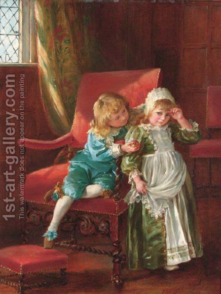 The young admirer's gift by Eleanor Manly - Reproduction Oil Painting