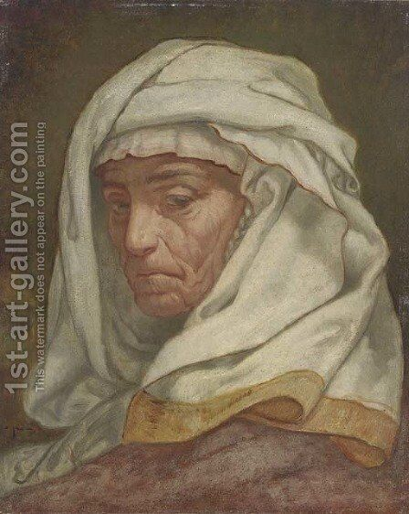 Study of Jane Jackson A Cumaean Sibyl by Elihu Vedder - Reproduction Oil Painting