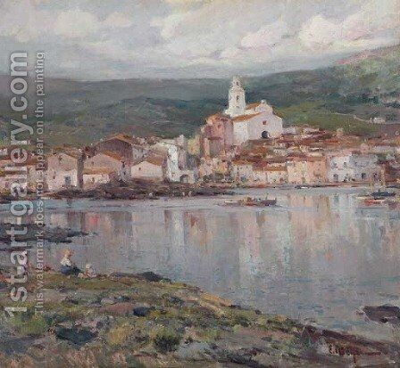 Cadaques (The village of Cadaques) by Eliseu Meifren i Roig - Reproduction Oil Painting