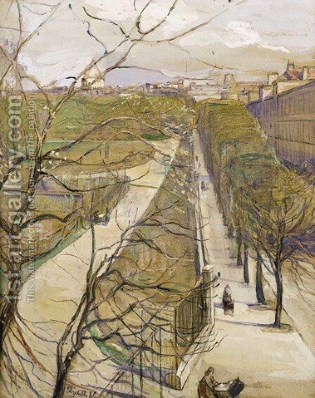 View of the Luxemborg Gardens, Paris by Elizabeth Nourse - Reproduction Oil Painting