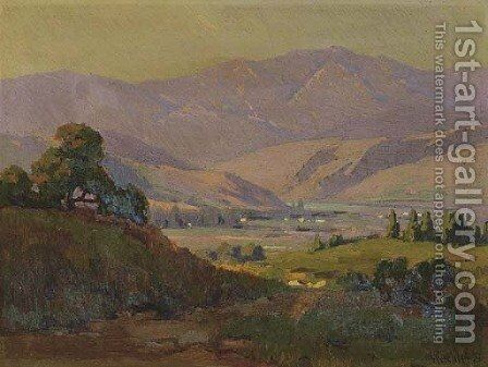 Mountain Valley by Elmer Wachtel - Reproduction Oil Painting
