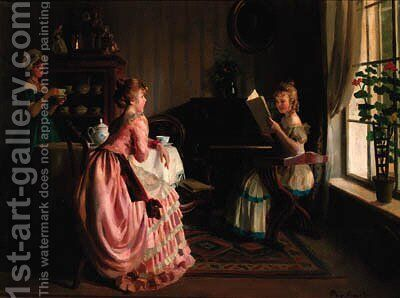 The recital by Emil Pap - Reproduction Oil Painting