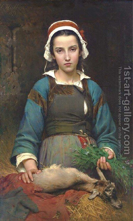 A Friend in Need by Emile Auguste Hublin - Reproduction Oil Painting