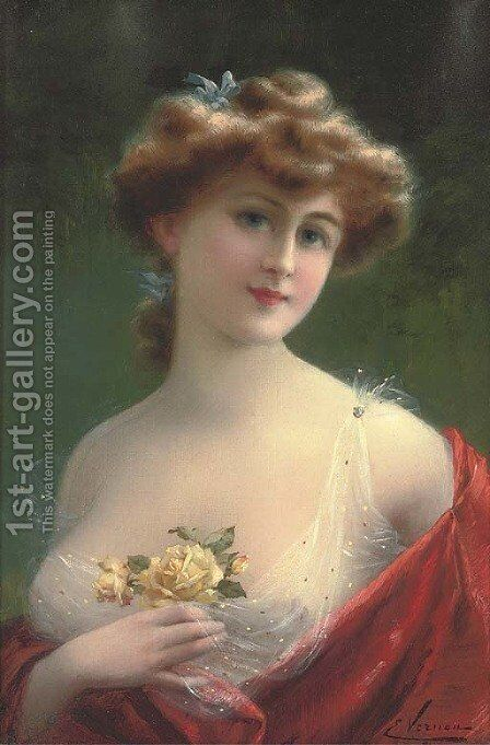 Sweet blossoms by Emile Vernon - Reproduction Oil Painting