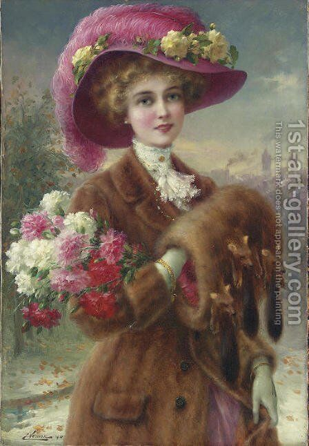 Winter Beauty by Emile Vernon - Reproduction Oil Painting