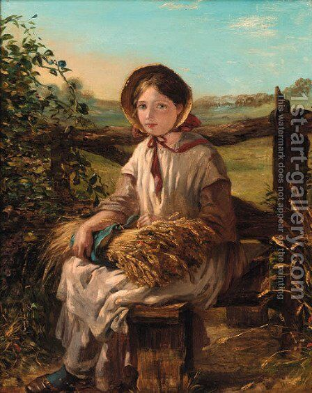 The young harvester by Emma Brownlow - Reproduction Oil Painting