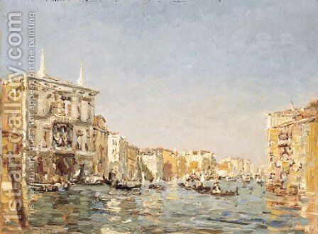 The Grand Canal, Venice by Emma Ciardi - Reproduction Oil Painting