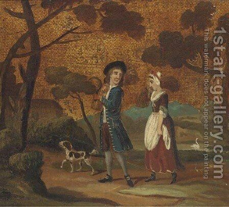 The harvesters return by English Provincial School - Reproduction Oil Painting