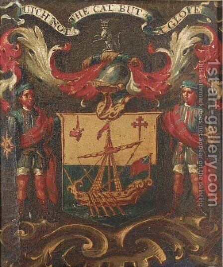 A Coat-of-Arms by English School - Reproduction Oil Painting