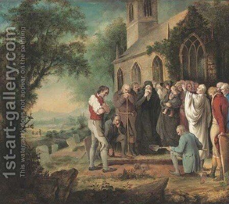 A final farewell by English School - Reproduction Oil Painting